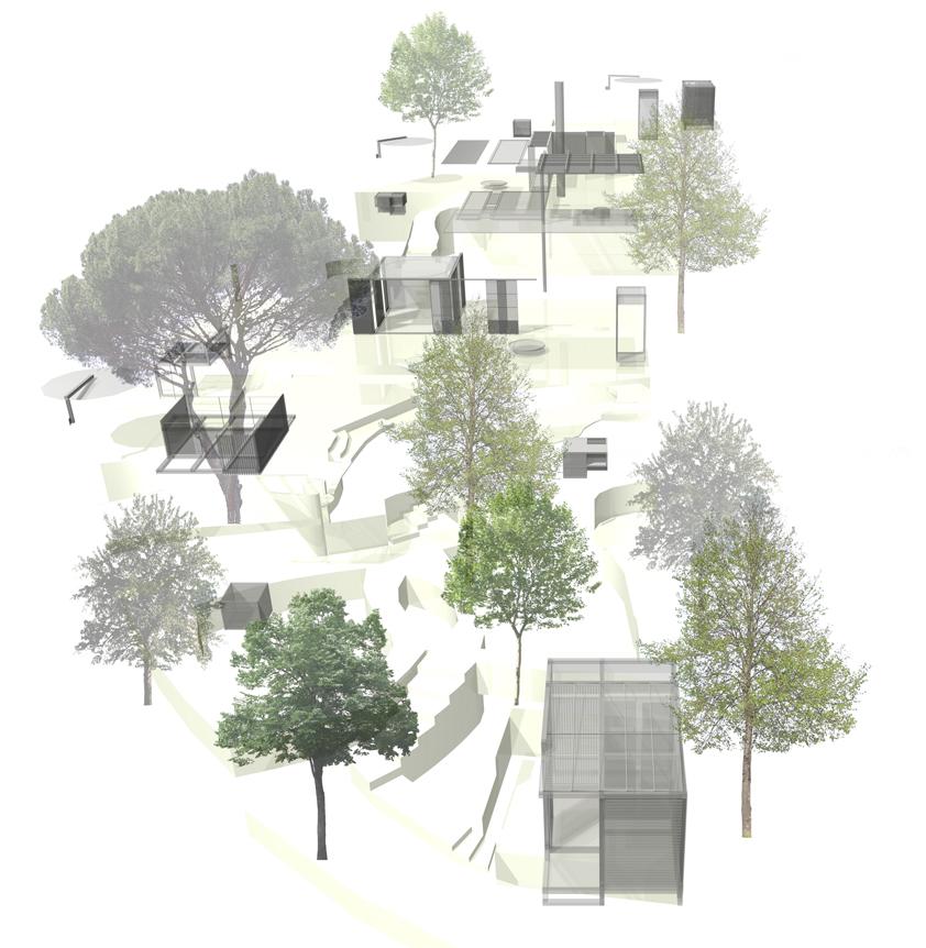 astratta con alberi