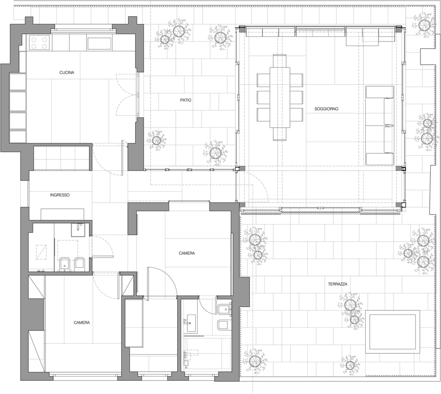 Casa tot pbaa piano b architetti associati - Disegno pianta casa ...