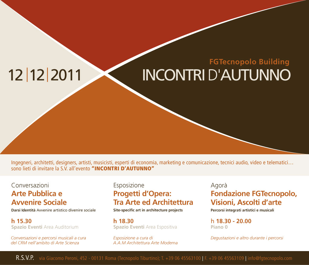 Save the Date_Incontri d'Autunno